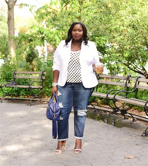 Fashion To Figure DIstressed Boyfriend Jeans