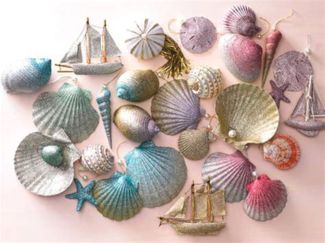 ombre glittered seashell ornaments video martha stewart