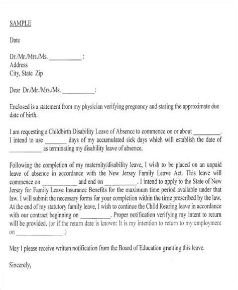 42 leave letter sles pdf word apple pages sle
