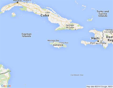 Jamaika - ģeogrāfiskā karte
