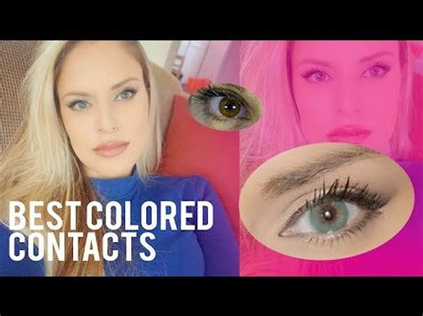 best colored contacts for brown best realistic colored contacts for brown aqua