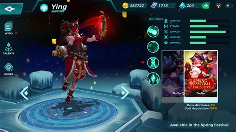 ying abilities talents  skins paladins strike central