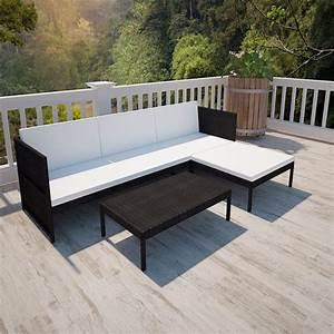 salon de jardin noir ciel et terre With tapis exterieur avec ensemble canapé 3 2