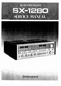 Service Manual For Pioneer Sx-1280