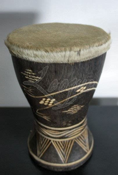 small accent tribal drums  animal skin leoque