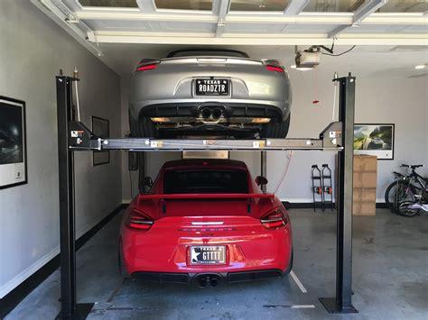 car lifts for home garage rotary 4 post garage lift rennlist porsche discussion 34967