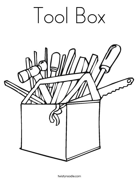toolbox coloring page tool box coloring page twisty noodle