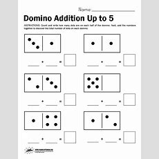 Domino Math Worksheet, Adding Up To 5  Paging Supermom