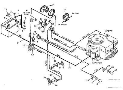 craftsman lt1s500 model 917 289031 lawnmower wiring