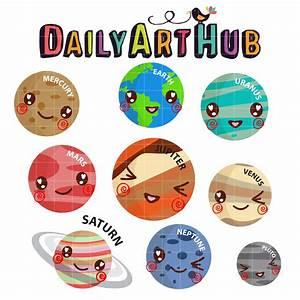 Cute Planets Clip Art Set   Daily Art Hub - Free Clip Art ...