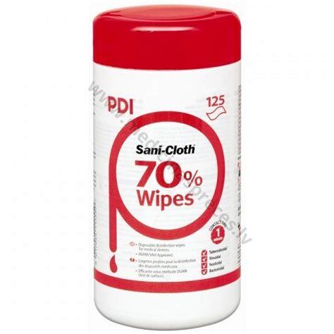 PDI Sani Cloth 70 spirtu saturošas mitrās salvetes ...