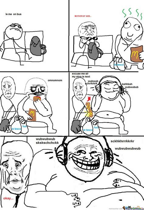 Le Me Memes - le me on bus by serkan meme center
