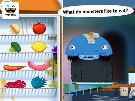 toca boca kitchen toca kitchen monsters on the app