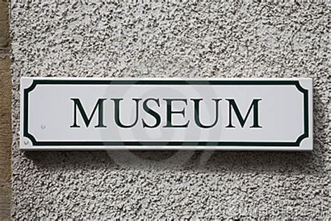 museum sign royalty  stock photo image