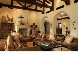 Living Rooms With Leather Furniture Decorating Ideas by Southwest Style Home Traces Of Spanish Colonial Amp Native