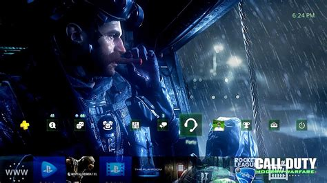 cod 4 modern warfare remastered ps4 dynamic theme youtube