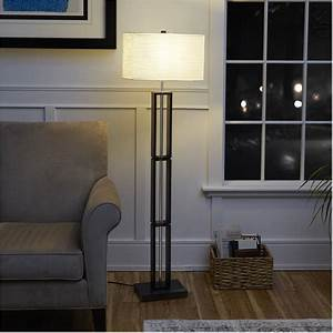 mainstays dark wood floor lamp with rice paper shade 58 With mainstays dark wood floor lamp gray