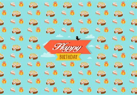 birthday pattern background free vector