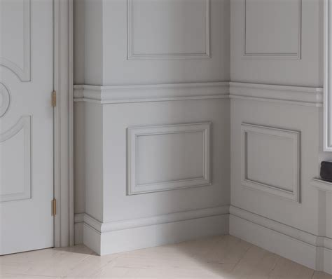 Panel Molding Wainscoting by Wainscoting Door Baseboards And Crown Molding Crown