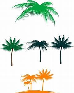 Palmen Für Draußen : set von palmen f r design isoliert auf wei vektorgrafik ~ Michelbontemps.com Haus und Dekorationen