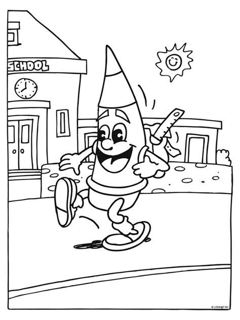 Www School Kleurplaten Nl by Kleurplaat Met Rugzak School Kleurplaten Nl