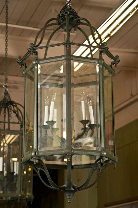 Antique Lantern Chandelier by Vintage Beveled Glass Lantern Style Chandeliers At 1stdibs