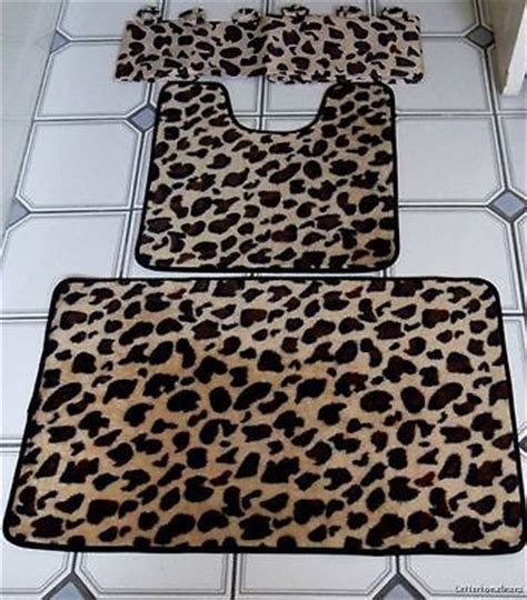 Cheetah Bathroom Rug Set by 15 Pc Brown Leopard Bathroom Shower Curtain Bath Mat Set