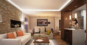 Mur Brique Salon : d coration salon avec des murs en briques d coration ~ Zukunftsfamilie.com Idées de Décoration