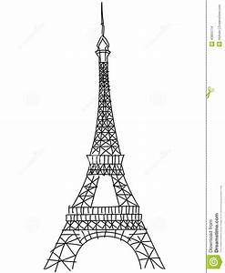 Doodle Eiffel Tower Stock Vector - Image: 43853714