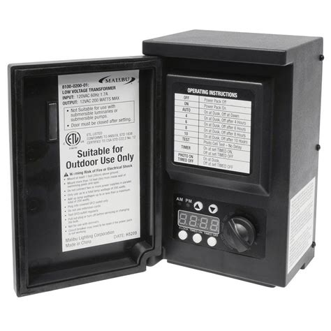malibu low voltage 200 watt digital transformer 8100 0200