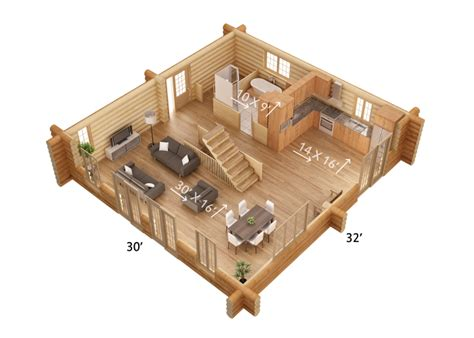 mezzanine dans une chambre plan maison bois rond gratuit