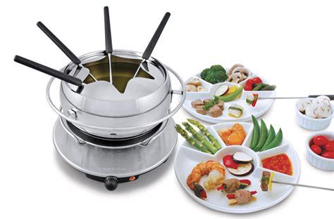 swissmar zurich electric fondue set cutlery