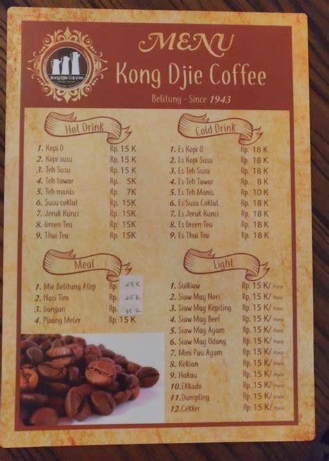 kedai kopi kong djie jakarta biak obat kangen kuliner