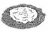 Spaghetti Kleurplaat Grote Afbeelding sketch template