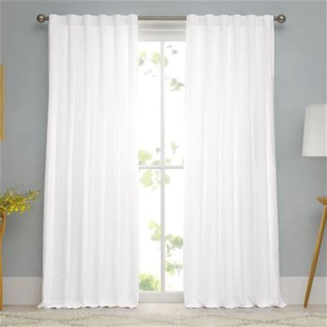 real simple 174 linear woven ribbed matelasse window curtain