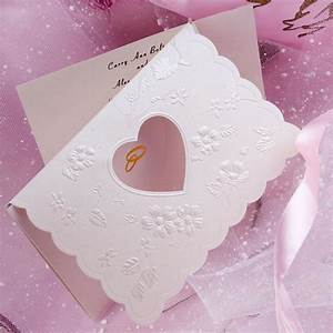unique modern art deco heart laser cut tri fold affordable With inexpensive tri fold wedding invitations