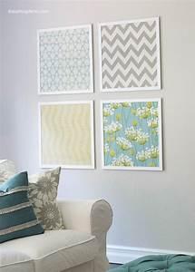 Fabulous diy fabric wall art for a spring home decor