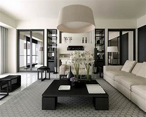 Classic, And, Chic, Black, And, White, Living, Room, Decor