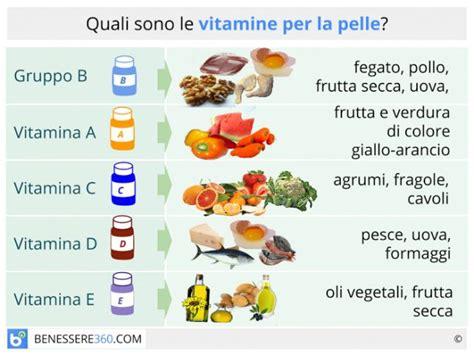 tabelle caloriche e nutrizionali degli alimenti vitamine per la pelle quali assumere alimenti ed