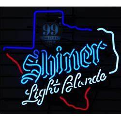 Shiner Light Blonde Texas Beer Neon Sign