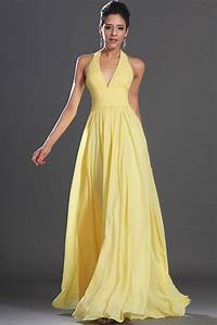 new arrivals 2014 elegant a line yellow chiffon long With yellow evening gowns wedding