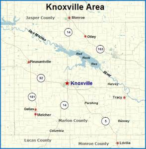 Knoxville Iowa Map