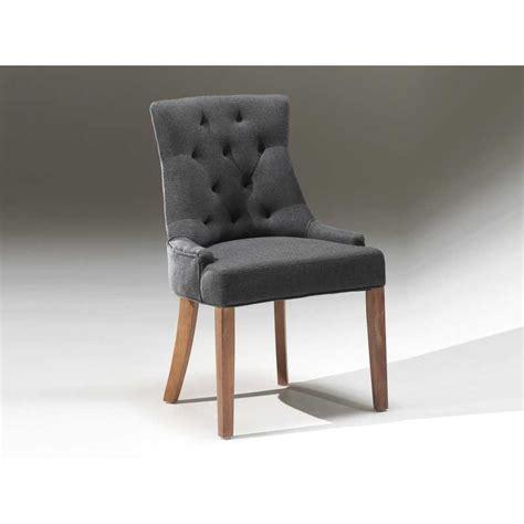 chaise gris anthracite chaise capitonnée revêtement en tissus coloris gris