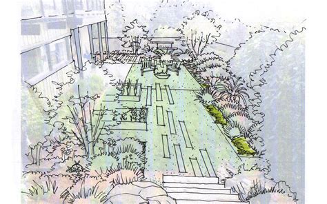 garden creation how to draw a perspective sketch