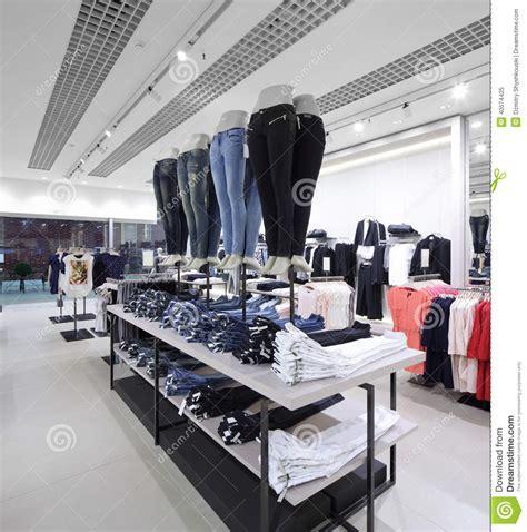 Brand New Interior Of Cloth Store Stock Photo Image