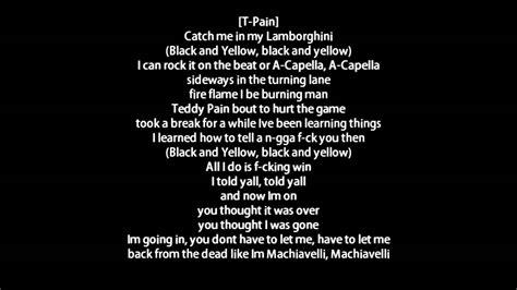 Black And Yellow Lyrics 6 Wide Wallpaper