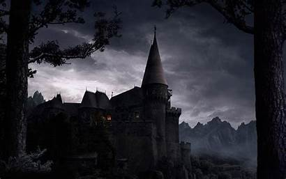 Spooky Castle Gothic Creepy Dark Wallpapers Scary