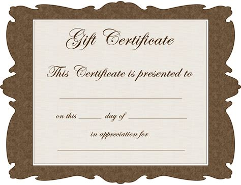 gift certificate template  fill   gift