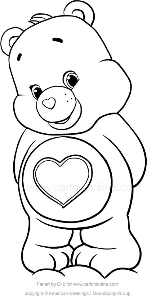 disegno cuore da stare e colorare disegno di tenerorso orsetti cuore da colorare