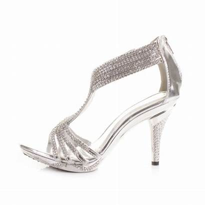 Silver Heels Shoes Heel Sandals Prom Womens